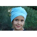 Turban LISA EPONGE bleu ciel