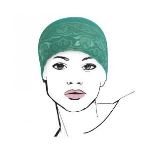 Bonnet de nuit ONYX vert deau